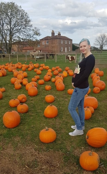 Pumpkin picking with bump