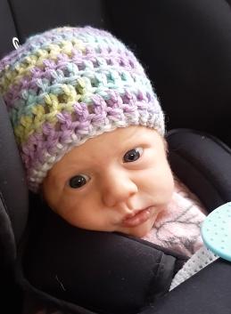 Leilani crochet baby hat