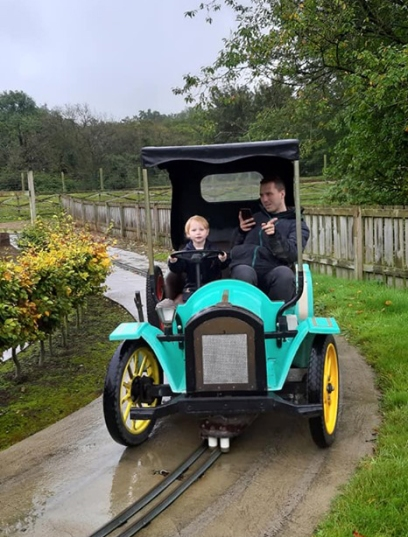 beau and daddy on tractor lightwater valley