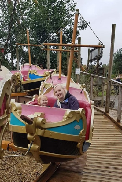 Beau and mummy pirate ride lightwater valley